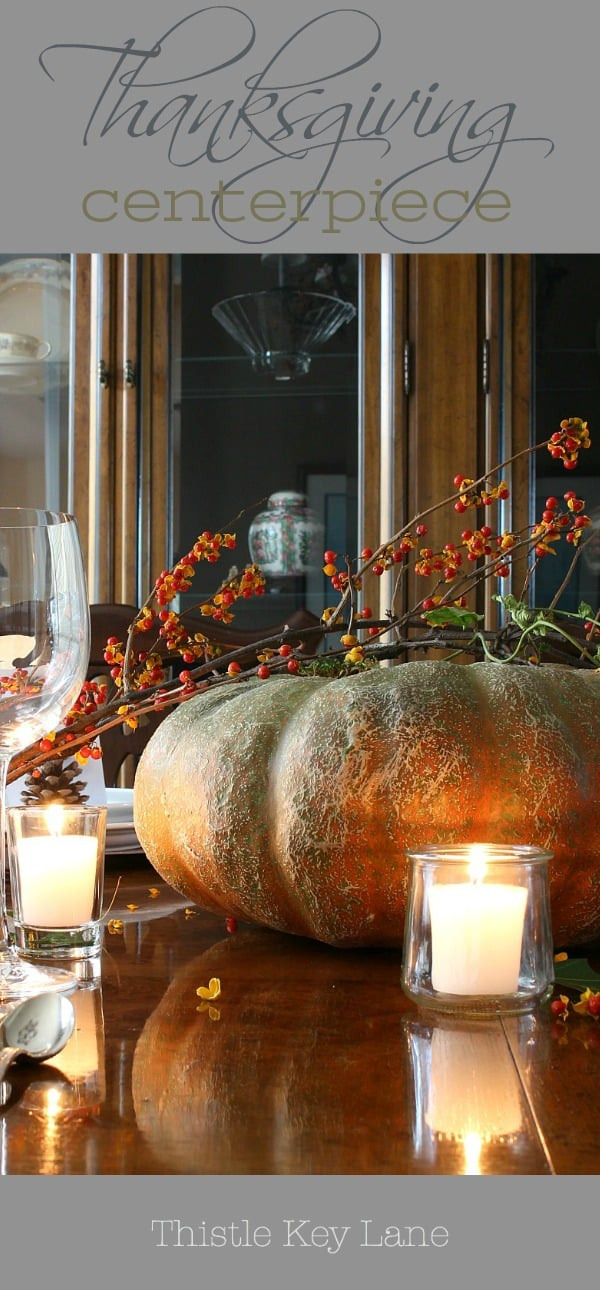 Dim the lights and enjoy a beautiful Thanksgiving table.