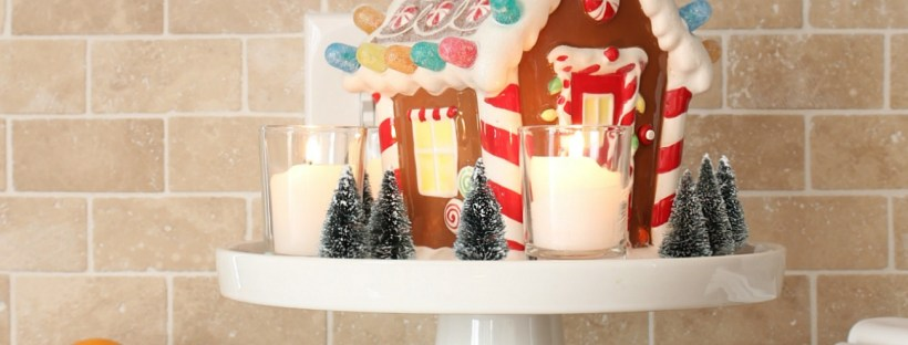 Christmas vignette with candles