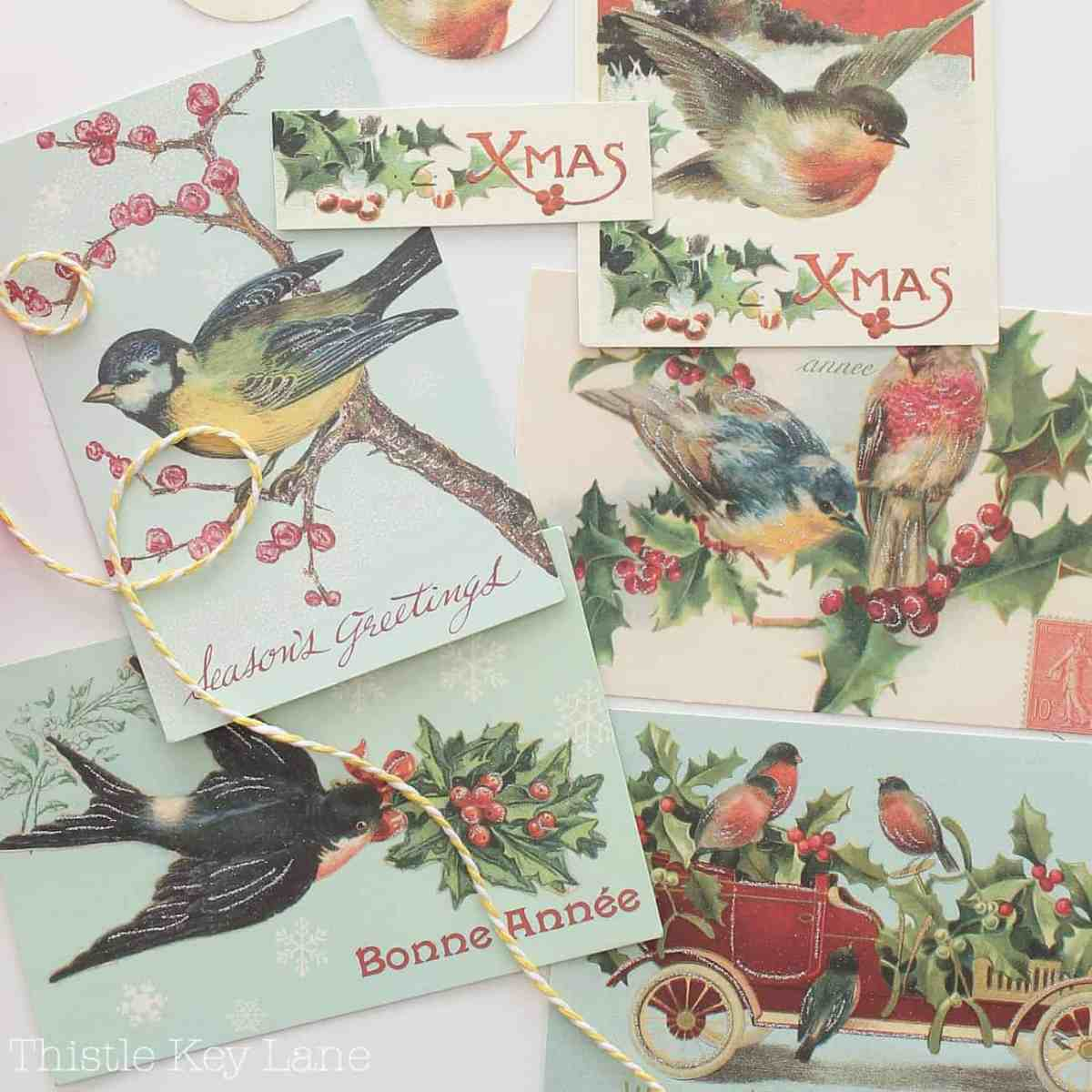 Create Vintage Gift Tags For Treat Bags