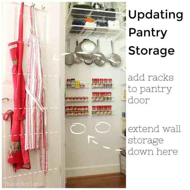 Game plan for updating pantry storage.