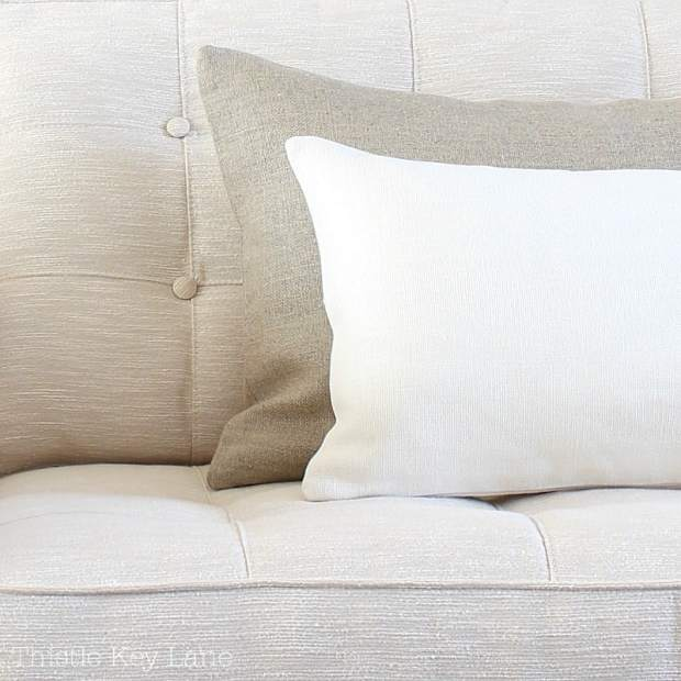 Neutral fabrics with texture.