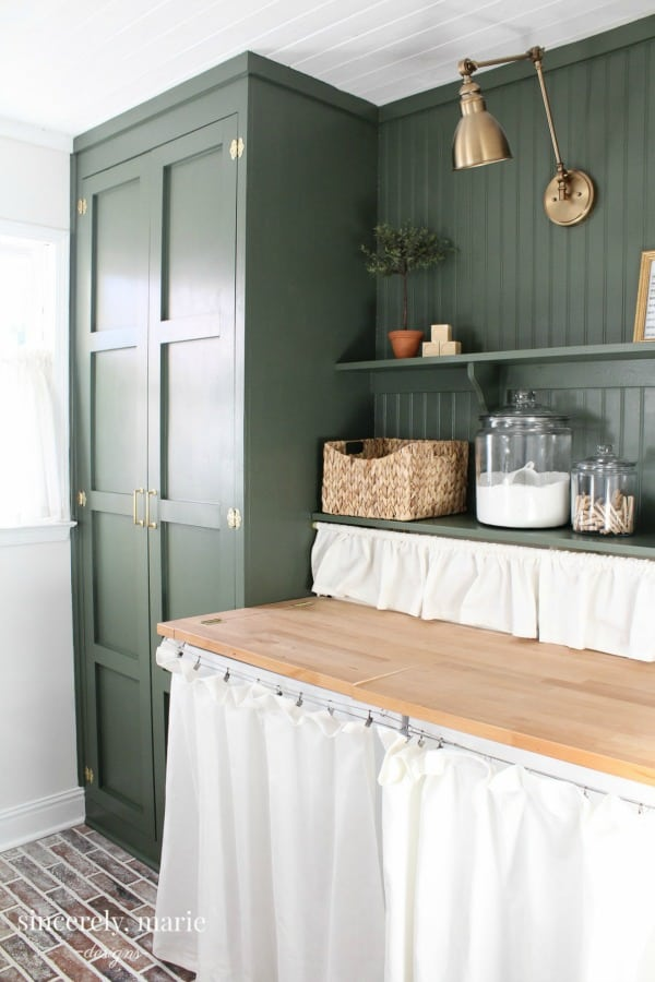 Laundry room update from Sincerely, Marie Designs.