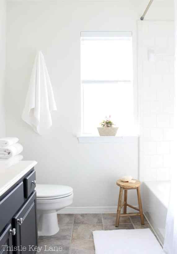 Simple classic white bathroom.