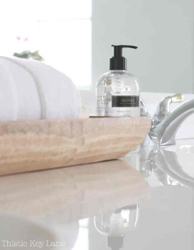Accessorize with towels and soaps.