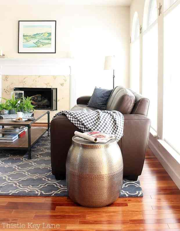 Everyday decorating with comfortable seating.