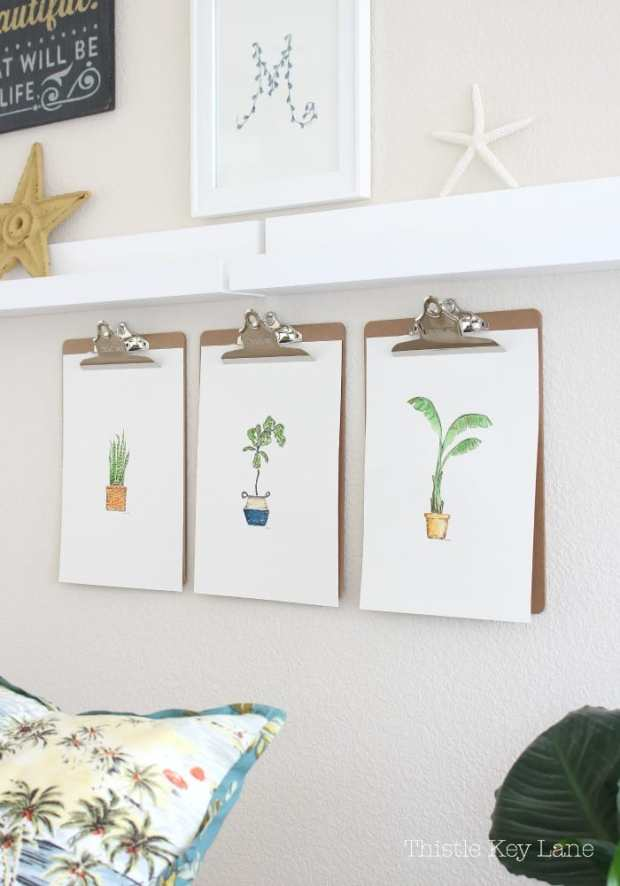 Houseplant watercolors from Thistle Key Lane.