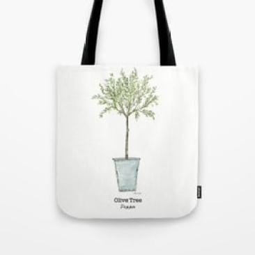 Olive tree tote bag by Thistle Key Lane.
