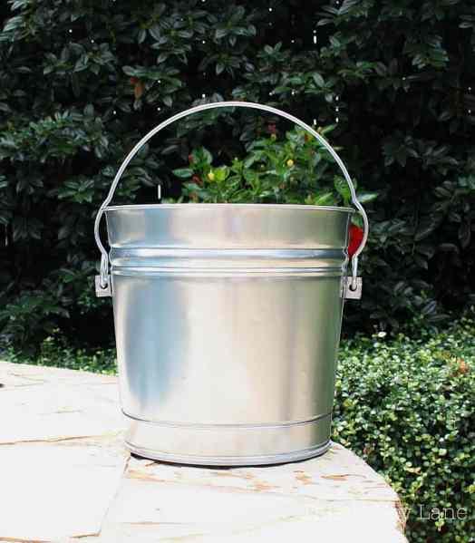 New shiny bucket ready to be transformed.