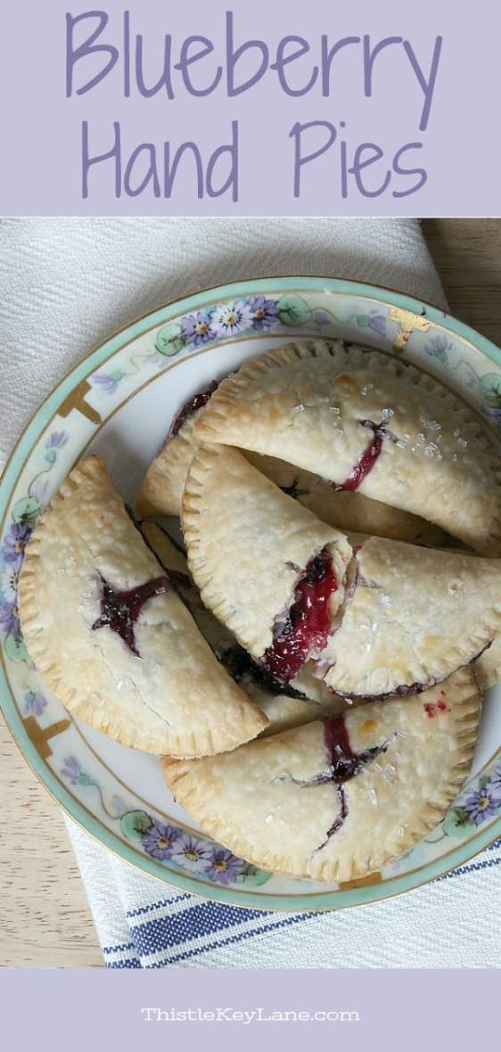 Fresh and flaky blueberry hand pie recipe from Thistle Key Lane.