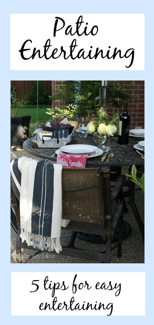 Five tips for easy patio entertaining from Thistle Key Lane.