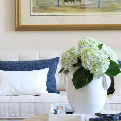 Summer Home Tour With Blue And White Accents