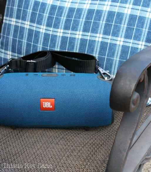 Bluetooth speakers for fun patio entertainment.