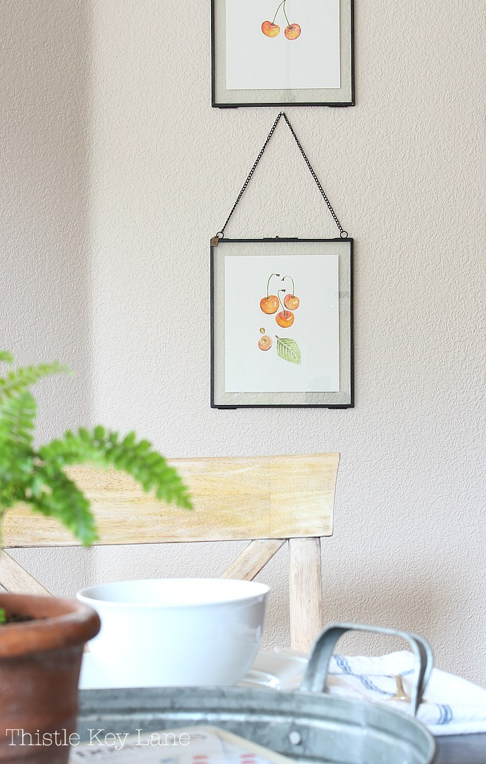 Easy framing ideas with pressed glass.