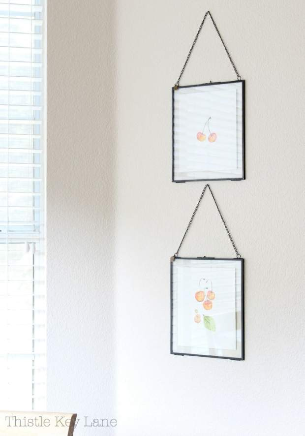 Easy framing ideas for watercolors.