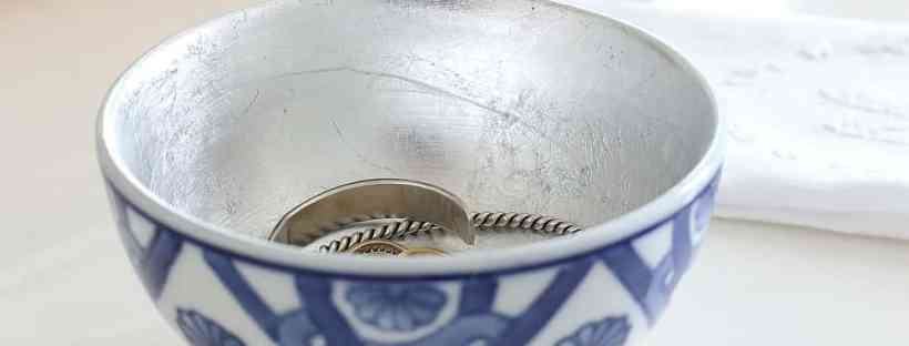 Silver leaf bowl so pretty to hold jewelry or change.