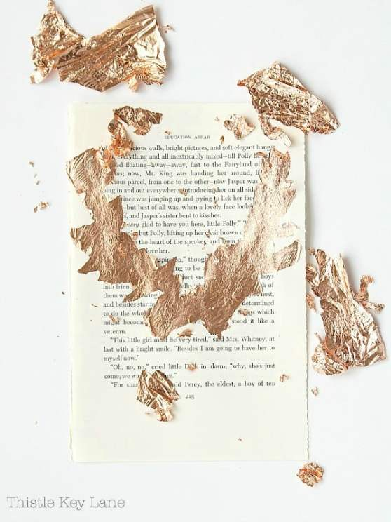 First prices of copper leaf removed from the book page.