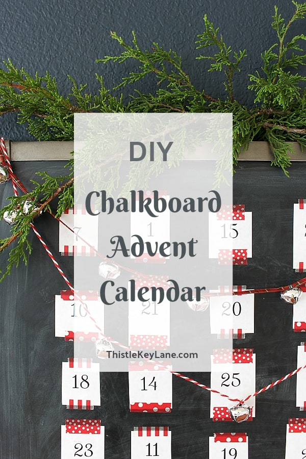 DIY Chalkboard Advent Calendar With Activities