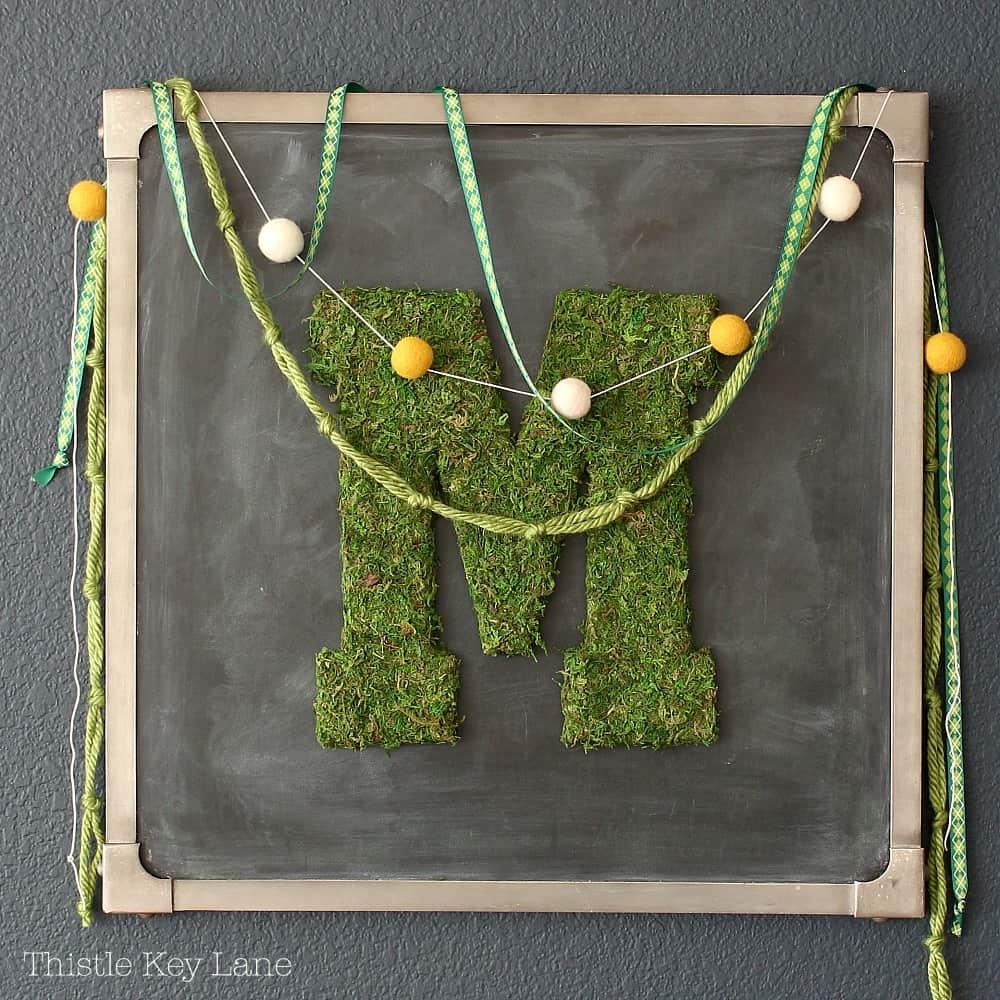 Moss Covered Letters: DIY Moss Covered Letters