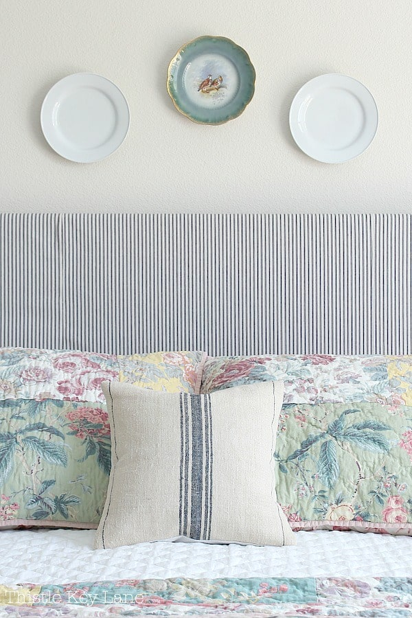 Updating a bedroom with patterns on pillows.