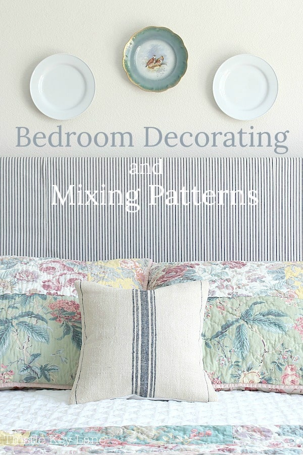 Mixing patterns on bedding.