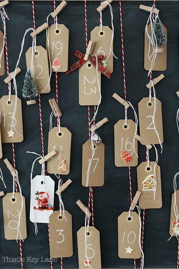 How To Make An Advent Calendar using a chalkboard.