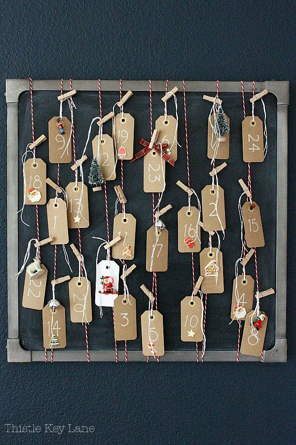How To Make An Advent Calendar using tags.