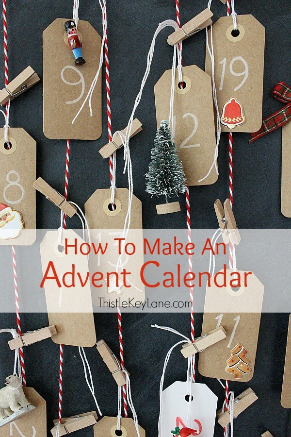 How To Make An Advent Calendar with simple craft supplies.