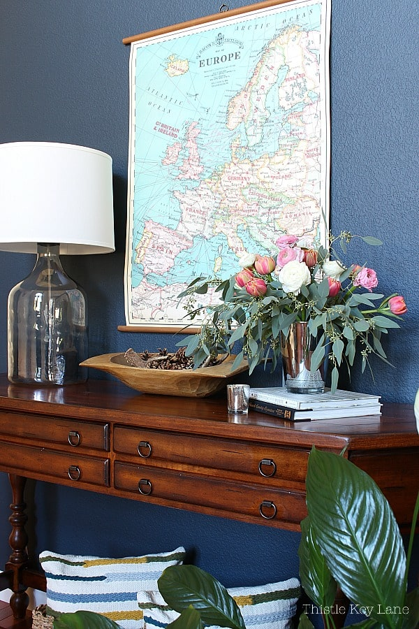 Create A Winter To Spring Entry Table with chart map for artwork.