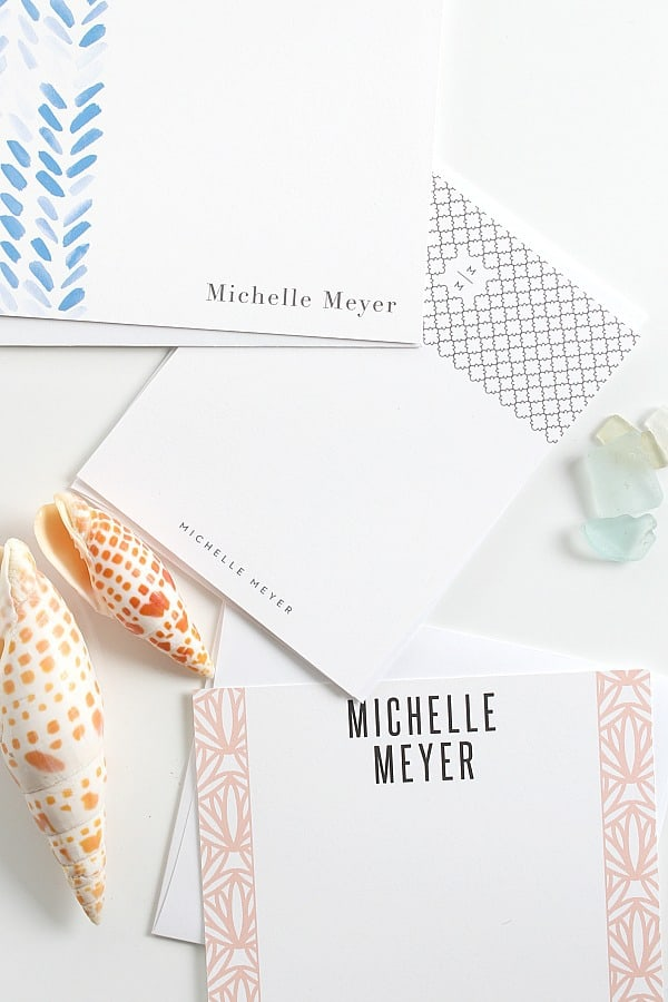 Personal stationery with pretty borders.