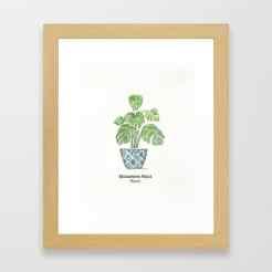 monastera-plant-framed-prints