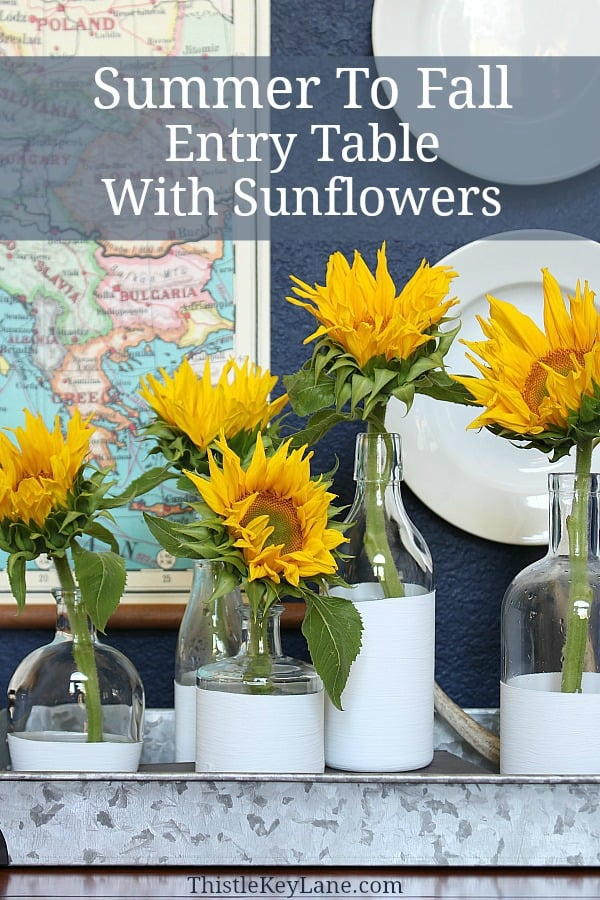 Summer To Fall Entry Table With Sunflowers