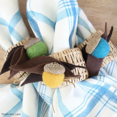 DIY Felt Acorn Napkin Rings