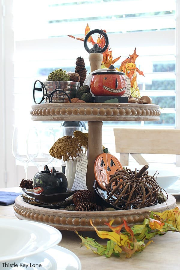 Vintage Looking Halloween - Create A Last Minute Halloween Tiered Tray.