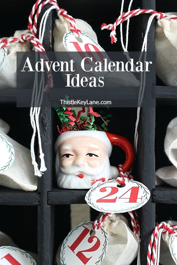 Advent Calendar Bags And Printable Numbers
