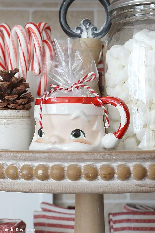 Candy canes and Santa Mug.