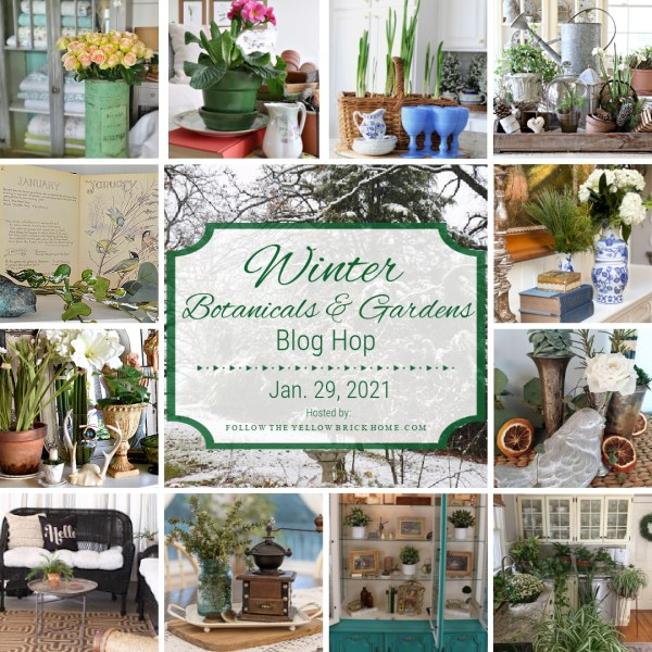 Winter Botanicals And Gardens Blog Hop Collage.
