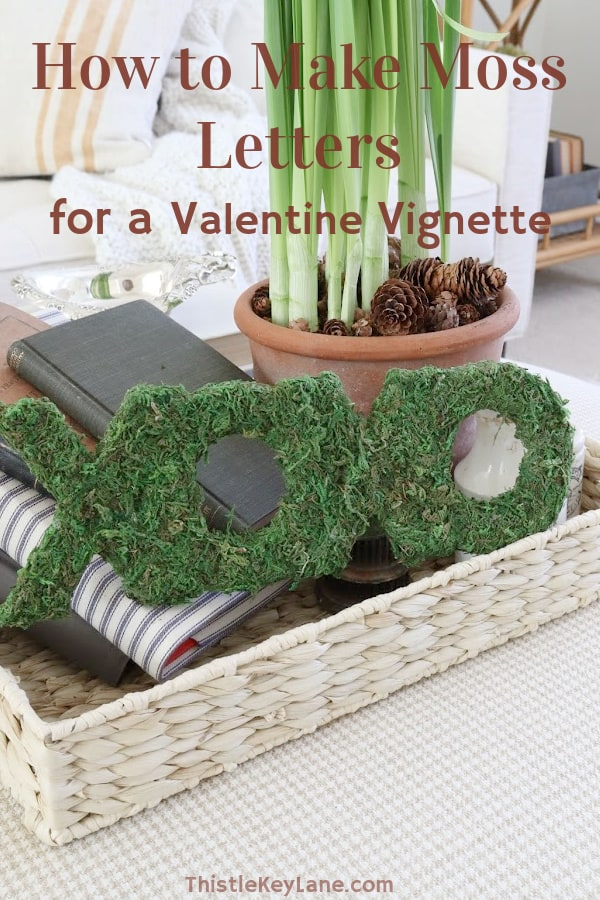 How To Make Moss Covered Letters For A Valentine Vignette