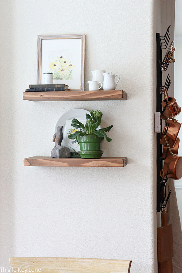 Easy Ways To Style Floating Shelves In The Kitchen With Plants