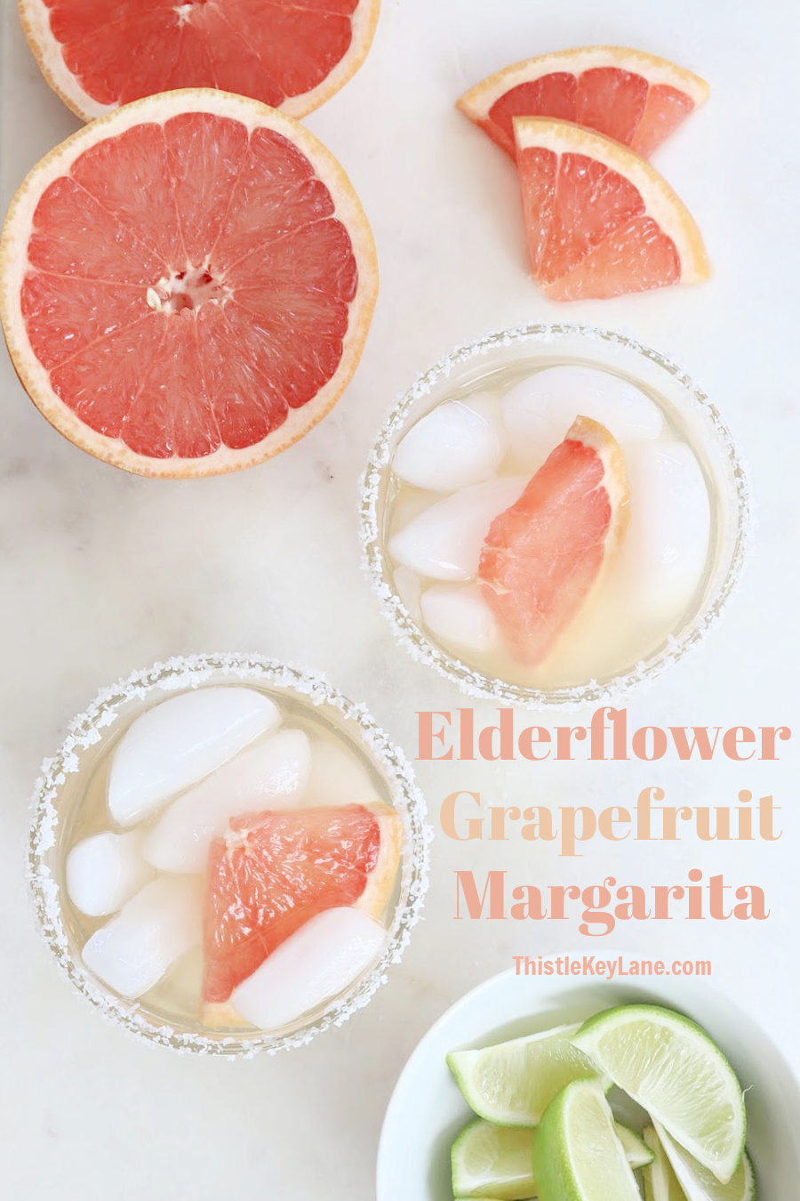 Elderflower Grapefruit Margarita Cocktail Recipe