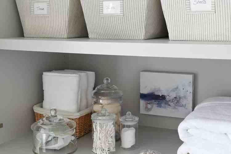 Organizing A Master Bathroom Linen Closet