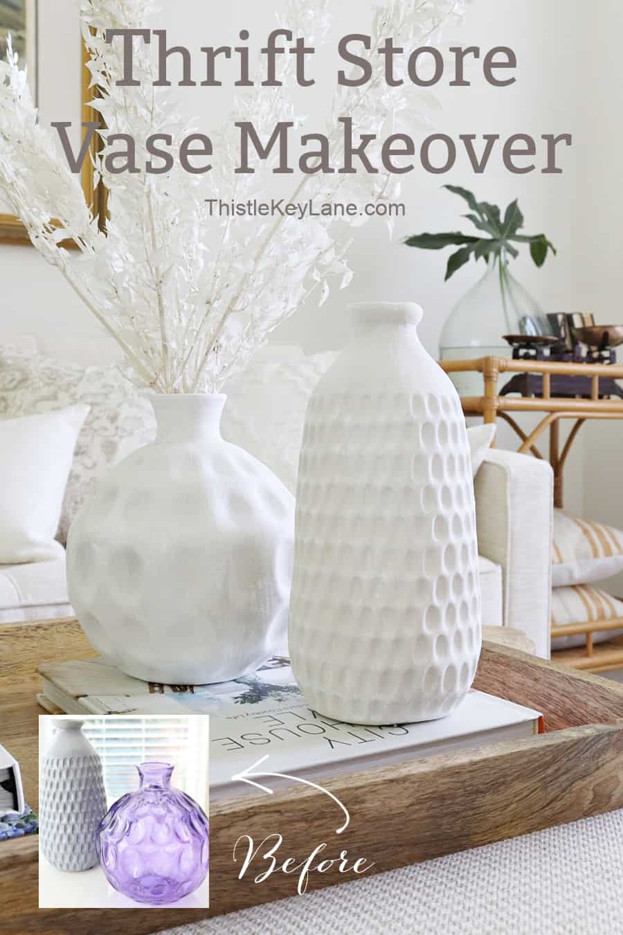 Easy Thrift Store Vase Makeover With Paint.