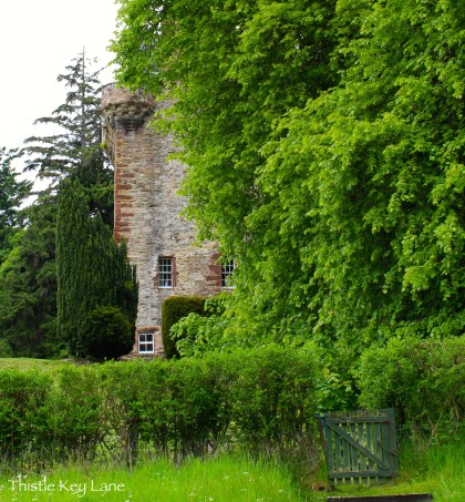 Side view of Castle Leod from the foot path.