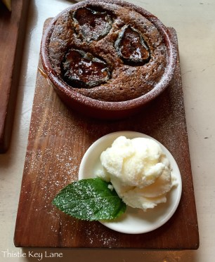 The Outsider Restaurant Fig Pudding