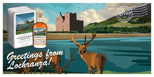 Arran Lochranza Castle Panorama whisky