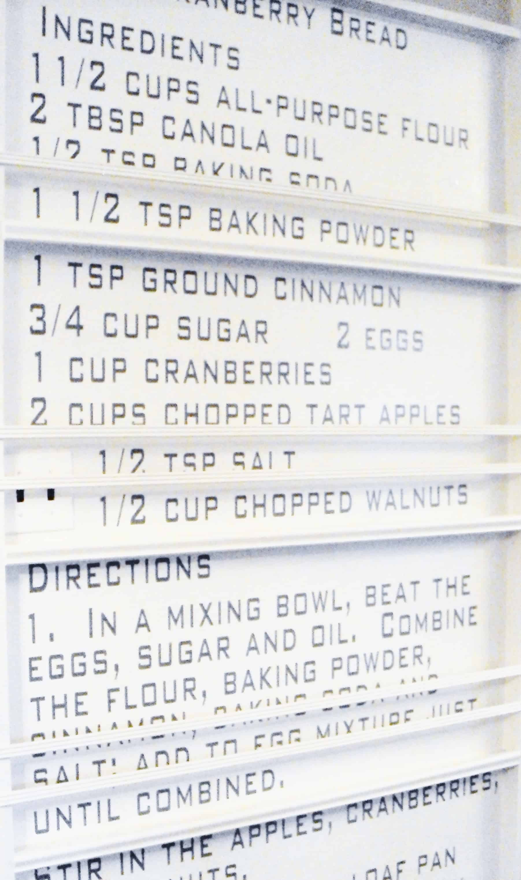 Once the recipe wall is complete, ensure you're happy with the end result.