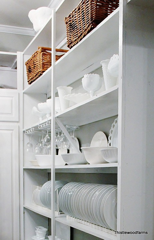 The dishes on display in the pantry