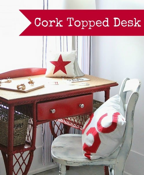 How to make your own cork topped desk