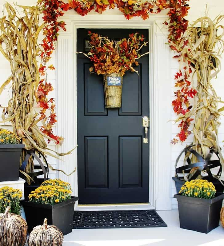 This front door is welcoming to guests and has great curb appeal