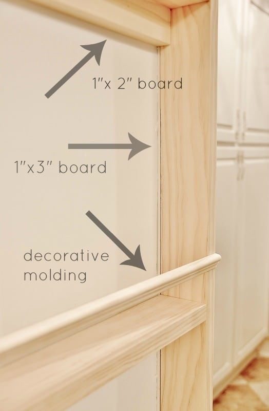 Start by framing out the spice rack with these measurements
