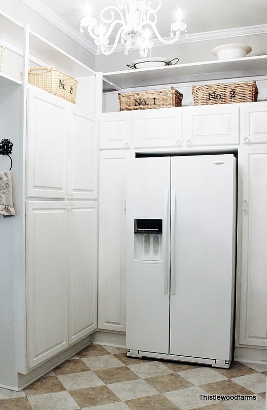 Here's what it looked like after, with built ins and a refrigerator